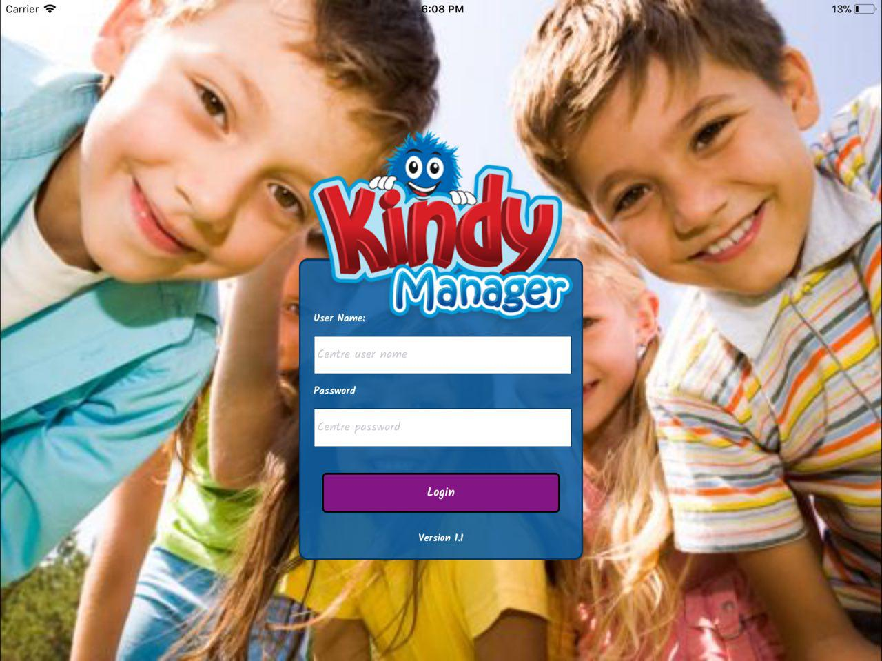 kindy manager kiosk