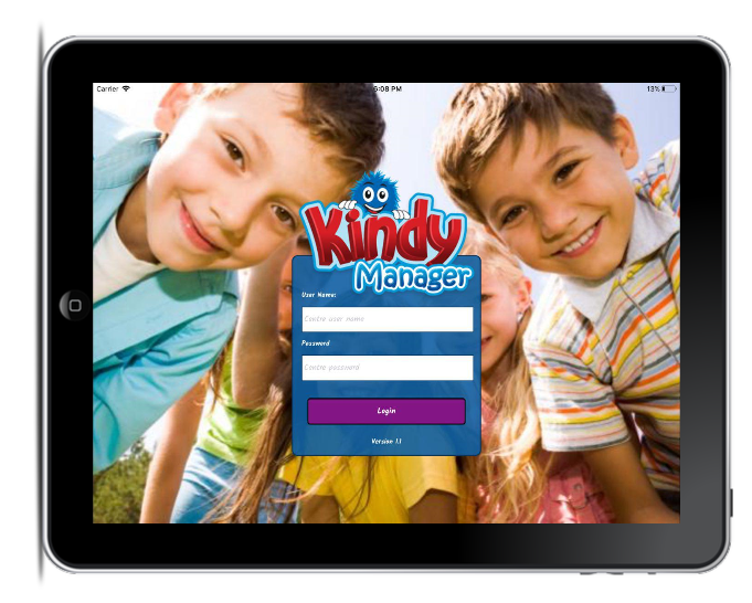 Kindy Manager Kiosk on Ipad